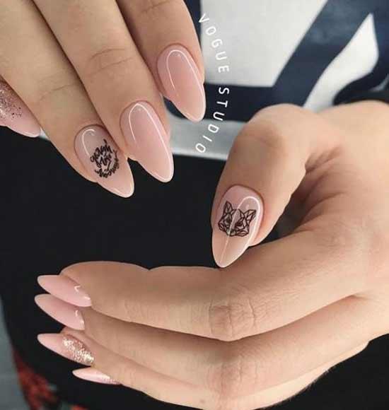 Геометрические животные на ногтях: фото маникюра, рисунки