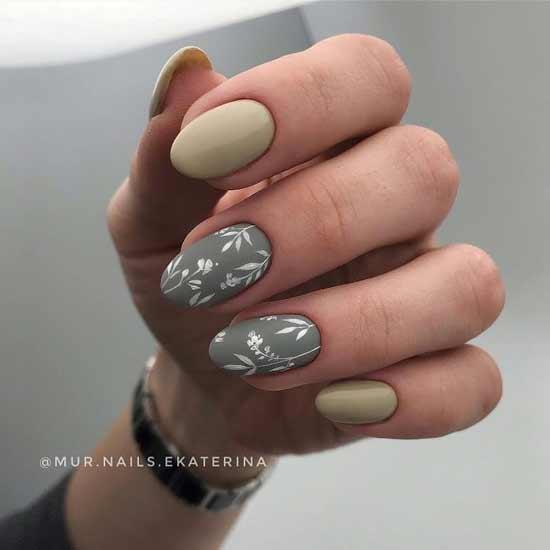 цветочный маникюр на ногтях