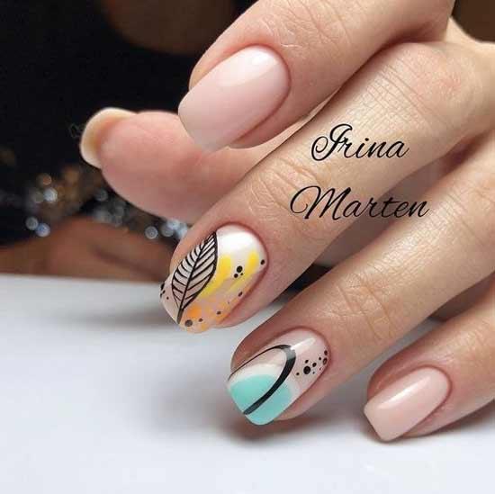 листочки на ногтях