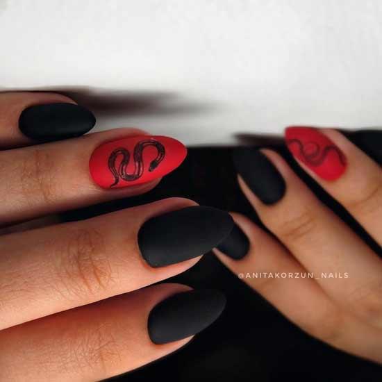 красный с черным цветом