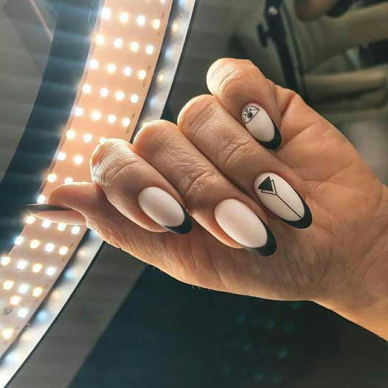 геометрический маникюр на ногтях