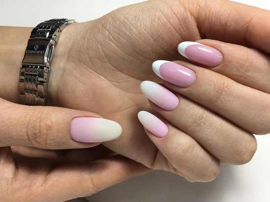 градиентный френч на ногтях