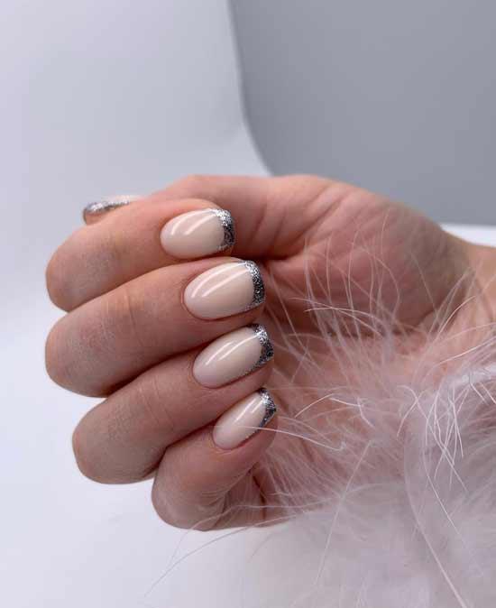 красивые ногти с блестками