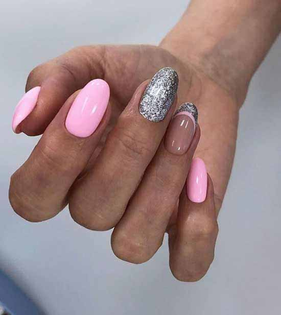 розовый френч с блестками