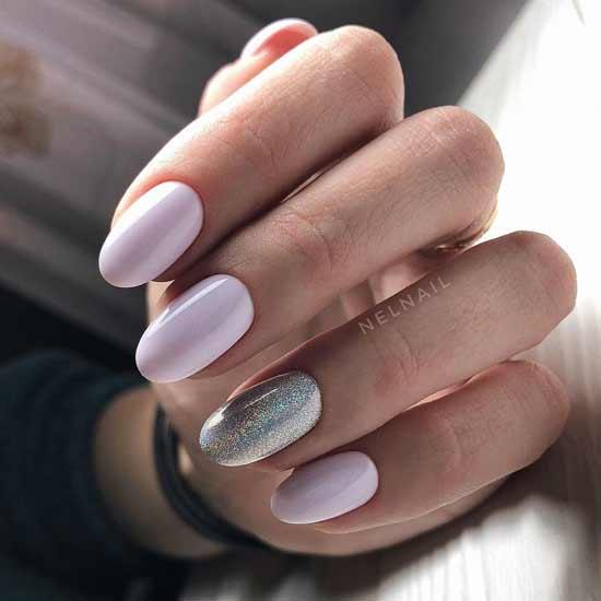 голографический маникюр на ногтях