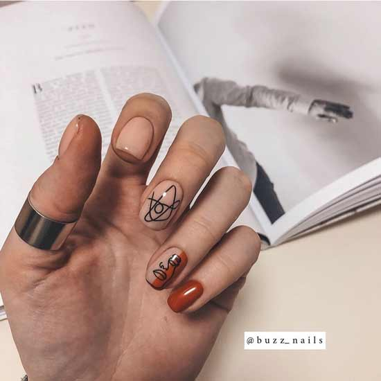 необычный маникюр на ногтях