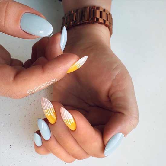 маникюр в пастельных тонах на ногтях