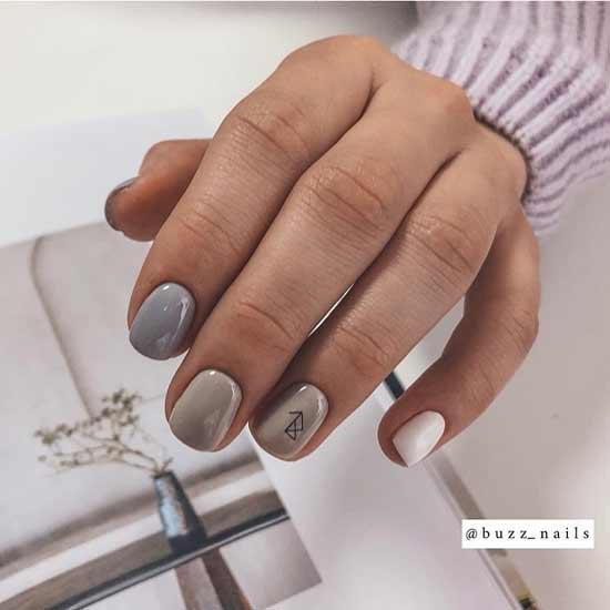 пастельная радуга на ногтях