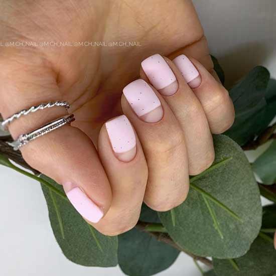 дизайн негативное пространство на ногтях