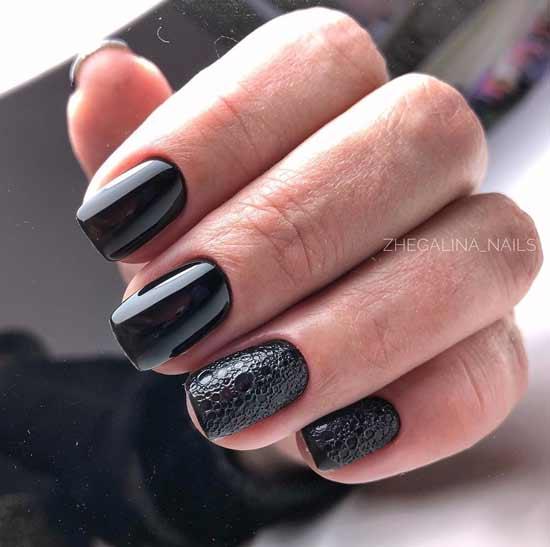 модный пенный маникюр на ногтях