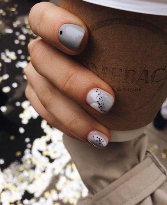 абстрактный дизайн на ногтях