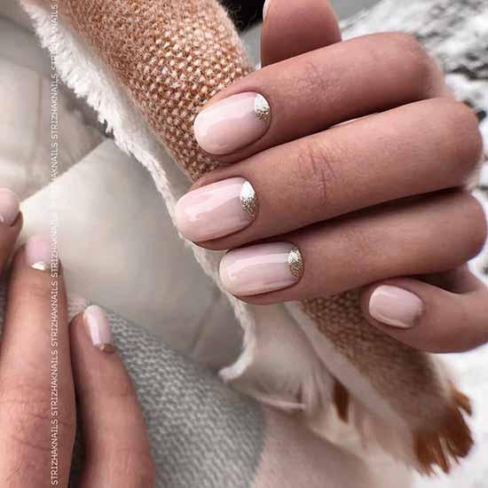 Модный френч с блестками: 100 лучших идей дизайна, новинки