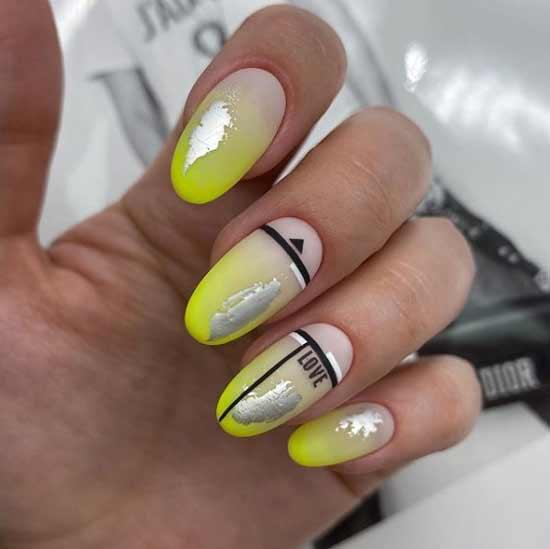 градиентный маникюр на ногтях
