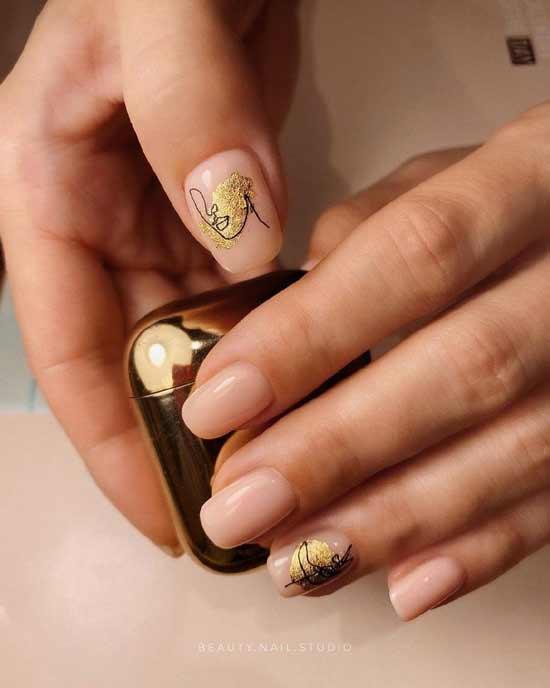 модный маникюр на ногтях