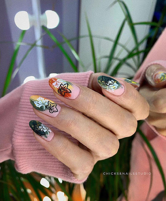 Осенний маникюр 2021: фото, красивые новинки дизайна ногтей