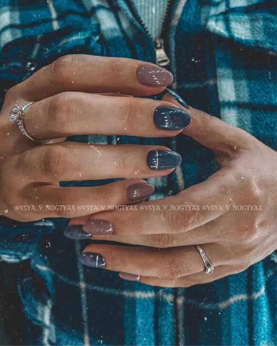 Зимний дизайн ногтей 2021: модные идеи и новинки дизайна