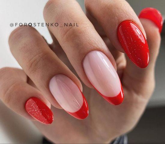 красные ногти