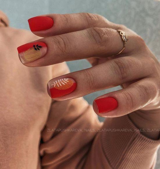 Красные ногти дизайн 2021: фото модного и стильного маникюра