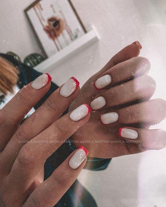 красные ногти дизайн