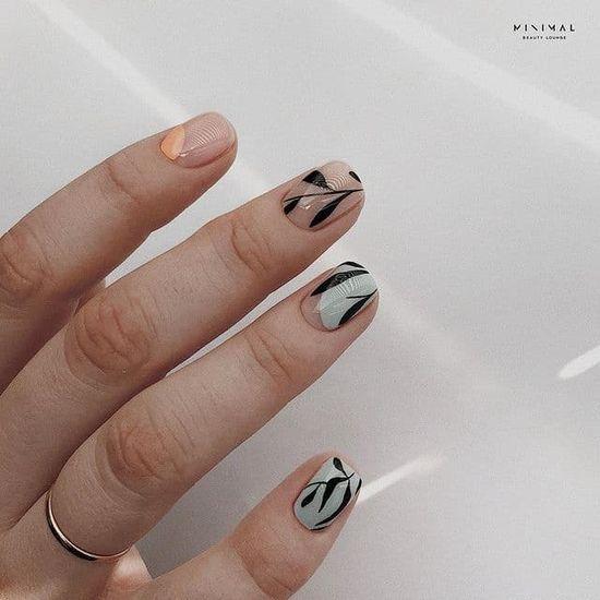 Красивый маникюр на короткие ногти: 100 фото, актуальный дизайн