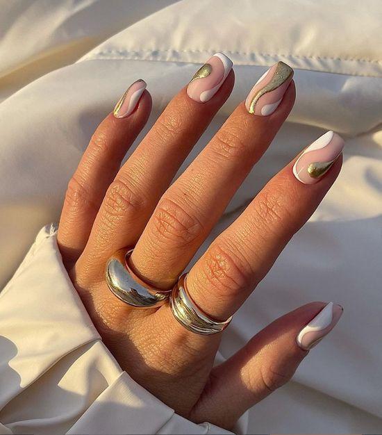 Белый маникюр 2021: 100 фото, модный дизайн ногтей