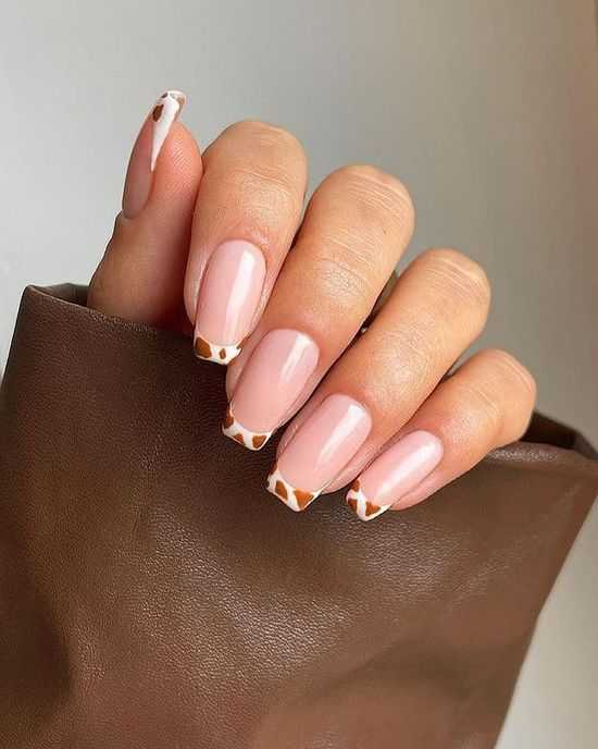 нюд дизайн ногтей