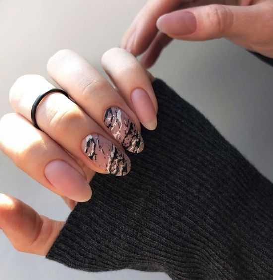 Нюдовый дизайн ногтей 2021: фото-идеи, новые техники