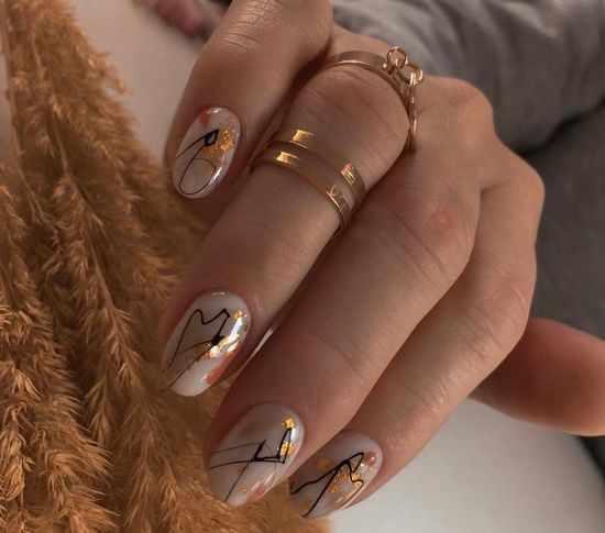 Абстракция на ногтях 2021: фото, красивые новинки дизайна