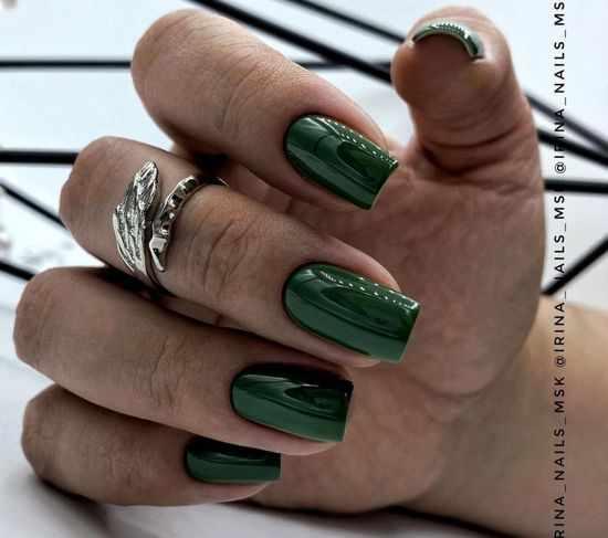 Зеленый маникюр 2021: фото, новинки, идеи дизайна