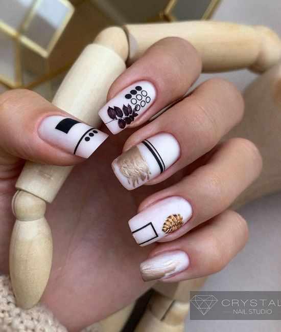 дизайн ногти полоски