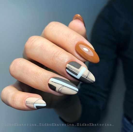 ногти с полосками