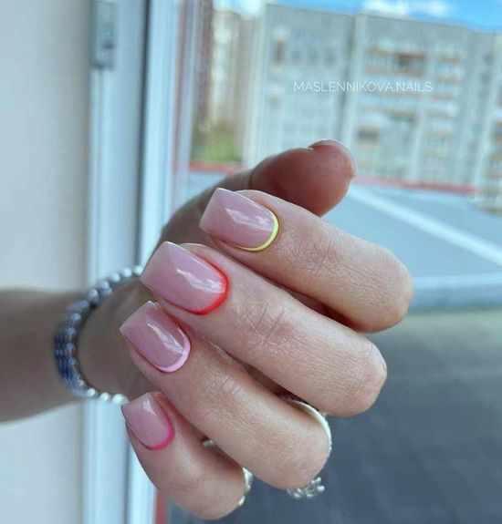 Лунный маникюр 2021: 100 фото, красивый дизайн ногтей