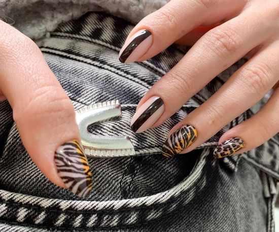 Животный принт 2021: модный тренд, оригинальные фото маникюра