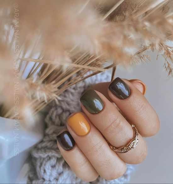 Осенний маникюр на короткие ногти 2021: актуальный дизайн